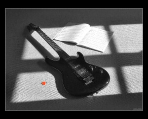 guitar in shadows